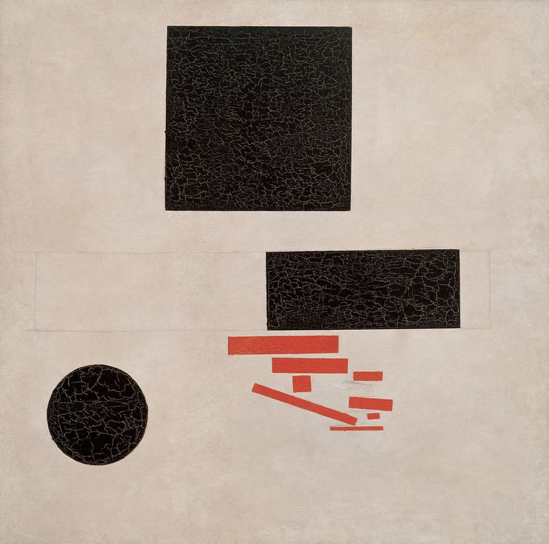 Kazemir Malevich - Suprematist Composition, painted in 1915.