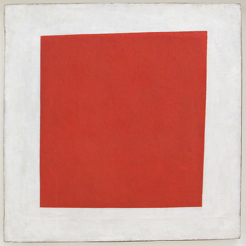 Kazemir Malevich - Red Square: Painterly Realism of a Peasant Woman in Two Dimensions, 1915.